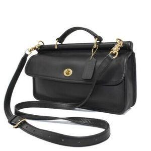 Vintage Coach Willis City 9153 brass black leather